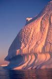 antarcticisbergsolnedgång Royaltyfri Foto