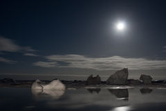 antarcticnatt Arkivbilder