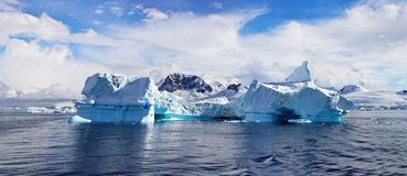 Antarctisch Panorama, Haven Foyn Royalty-vrije Stock Afbeelding