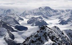 Antarctische bergen Stock Foto's