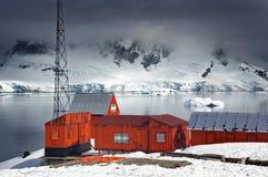 Antarctische onderzoekpost Royalty-vrije Stock Afbeeldingen