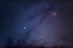 Antares and dark matter near the center of galactic.  Stock Photography