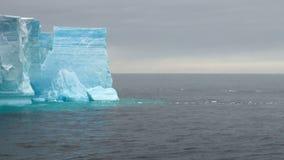 Antarktis - antarktisk halvö - isberg i tabellform i den Bransfield kanalen arkivfilmer