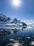Antarktis Landscape-11 Arkivfoto