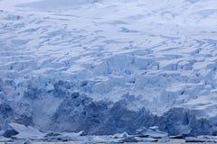 Antarktis landskap - glaciär Arkivbilder
