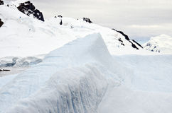 Antarktis - polart landskap Arkivbilder