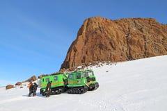 Antarktische Feldreise Stockbild