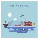 Antarktische Landschaft Stockfotos