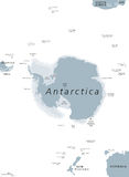 Antarktische Regions-politische Karte vektor abbildung