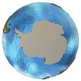 Antarktischer Kontinent auf Erde Stockfotografie