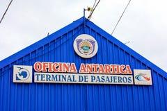 Antarktisches Büro Stockfoto