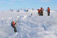 Antarktisches Feldtraining Stockfotos