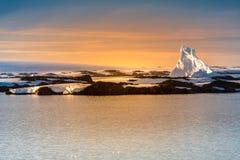 Antarktisk glaciär Arkivbild
