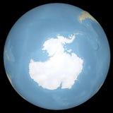 Antarktisk kontinent för världsjordjordklot, lättnadsöversikt stock illustrationer