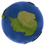 Antarktisk kontinent på jord stock illustrationer