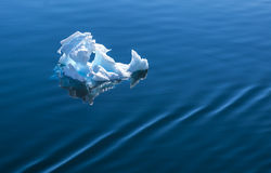 Antarktisk is som svävar på havet Arkivfoto