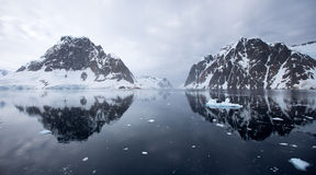 Antarktiskt landskap Arkivbild