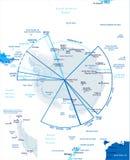 Antarktyczna region mapa - Wektorowa ilustracja ilustracji
