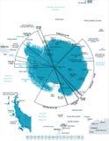 Antarktyczna region mapa - Wektorowa ilustracja ilustracja wektor