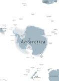 Antarktycznego regionu Polityczna mapa ilustracja wektor