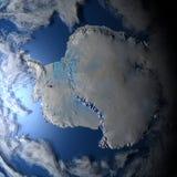 Antarktyczny na planety ziemi ilustracji