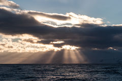 Antarktyczny niebo i chmury Zdjęcia Stock