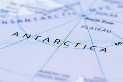 Antartica σε έναν χάρτη Στοκ Φωτογραφία
