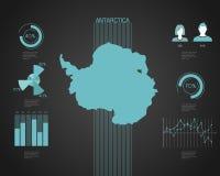 Antarticakaart - Illustratie Stock Foto