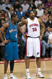 Antawn Jamison And Rasheed Wallace royaltyfri bild