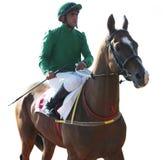 Ante carrera de caballos. Imagen de archivo