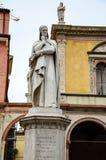 Ante statue, Verona. Piazza dei Signori, also known as Piazza Dante in Verona Stock Photos