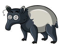 Anteater with dizzy face Royalty Free Stock Photography