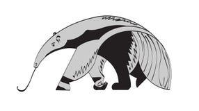 anteater rysunkowa gigantyczna ręki akwarela Obrazy Stock