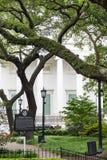 Antebellum Home Behind Revolutionary Park Stock Image