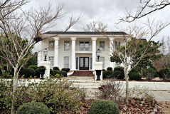 Antebellum  Mansion Southern Architecture. White Antebellum home with stately colums taken in winter Stock Images