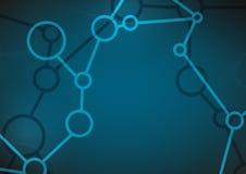 Antecedentes abstractos de la molécula. stock de ilustración