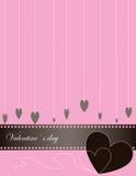 Antecedentes abstractos de la tarjeta del día de San Valentín. Fotos de archivo libres de regalías