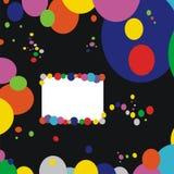 Antecedentes: círculos coloreados stock de ilustración