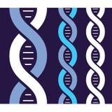 Antecedentes de la molécula de la DNA Stock de ilustración