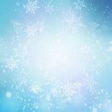 Antecedentes de la nieve de las vacaciones de invierno ilustración del vector