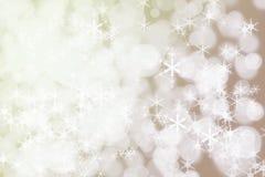 Antecedentes de la nieve de las vacaciones de invierno CCB Defocused abstracto de la Navidad Imagen de archivo