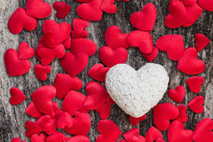 Antecedentes de los corazones del día de tarjetas del día de San Valentín Imagen de archivo