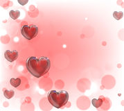 Antecedentes de los corazones del día de tarjetas del día de San Valentín Fotos de archivo