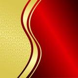 Antecedentes de lujo: oro y rojo. Imagen de archivo