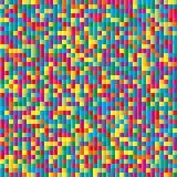 Antecedentes de papel del mosaico del color del confeti. Inconsútil stock de ilustración
