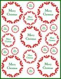 Antecedentes decorativos de la Navidad imagen de archivo libre de regalías