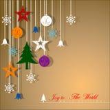 Antecedentes decorativos de la Navidad Fotos de archivo