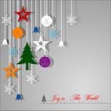 Antecedentes decorativos de la Navidad Fotografía de archivo libre de regalías