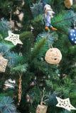 Antecedentes del árbol de navidad Foto de archivo libre de regalías