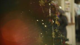Antecedentes del árbol de navidad almacen de video